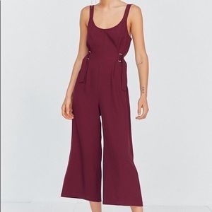 NWT Silence + Noise Wide Leg Buckle Jumpsuit